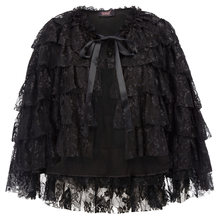 Lady Retro Gothic Cape Ruffle Lace Shrug Shawl Steampunk Victorian One Size(China)