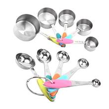 10Pcs Stainless Steel Coffee Powder Scoop Measuring Cup Spoon Baking Measuring Tools Set Scales Kitchen Tools(China)