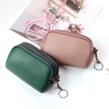 цены Mini Coin Purses Genuine Leather Women Small Wallet Men Simple Coin Pouch Female Change Purse Slim Card Holders Zipper Wallet