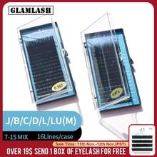 Glamlash Mix 7 ~ 15/15 20/20 25Mm Handgemaakte Koreaanse Pbt Wimper Extension Natuurlijke Zachte Faux Nertsen Wimpers 25Mm Wimpers Voor Uitbreiding