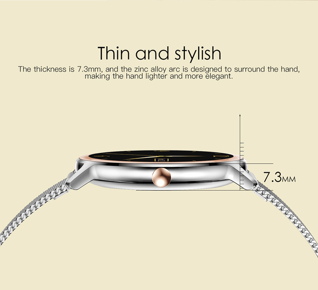 Super Slim Fashion Women Smart Watch 2021 Full Touch Round Screen Smartwatch for Woman Heart Rate Monitor For Android and IOS 5