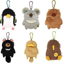 Cartoon Wombat Family Zero Wallet Platypus Koala Doll Hanging Cute Creative Expansion Card Bag Children Stuffed Plush Toy Wallet