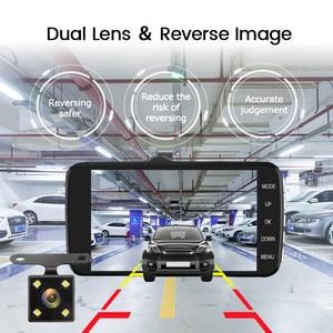 "Image 5 - 4.0""Dash Cam New Dual Lens Car DVR Camera Full HD 1080P  Front+Rear Camera Video Registrars G Sensor Night Vision Dash Cam"