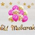2021 Eid Mubarak Balloons Ballon Aid Moubarak Decor Ramadan Kareem Eid Decorations Banner Star Moon Latex Balloon Party Supplies