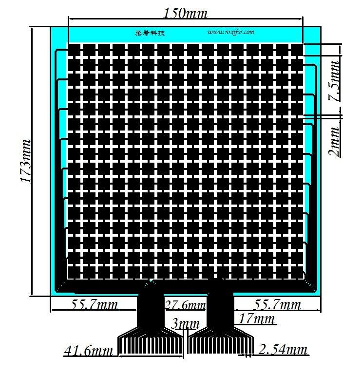 RX-M1616M Distributed Flexible Membrane Pressure Sensor FSR