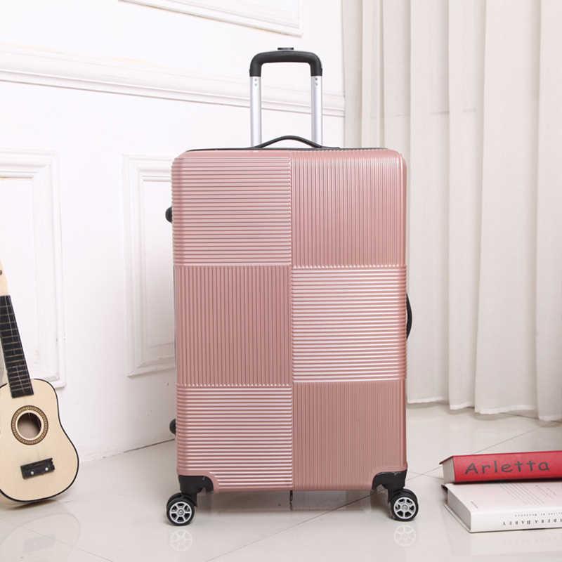 Reizen Rollende Bagage Sipnner Wiel Abs + Pc Vrouwen Koffer Op Wielen Mannen Mode Cabine Handbagage Trolley Doos bagage 20/28 Inch