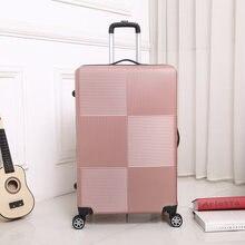Дорожный чемодан на колесиках sipnner abs + pc Женский Мужская