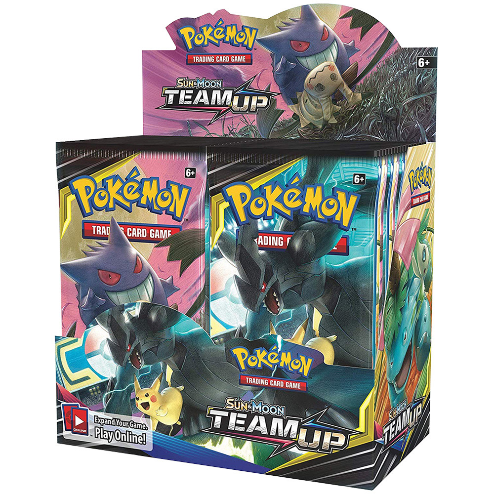 324pcs Cards Pokemon Pokeball TCG: Sun & Moon Team Up Collectible Trading Card Set High Quality Card Toy For Kids Collection