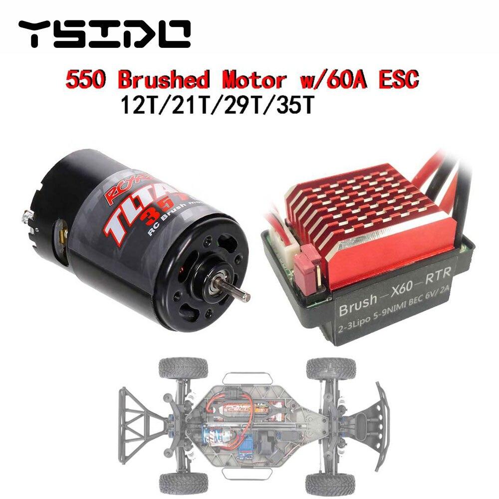 2S-6S 20Ax2 Brushed ESC Speed Controller für RC DIY Tanks Boat 540 550 775 Motor