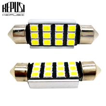 2x 31mm 36mm 39mm 41mm C5W C10W 2835 SMD Car LED Festoon Light Canbus Error Free Interior Doom Lamp Bulb License Plate Lamps