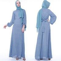 Muslim Long Maxi Dress Polka Dot Elegant Kaftan Caftan Abaya Turkish Arabic Dubai Turkey Moroccan Women Ladies Islamic Robe