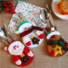 Christmas Cutlery Cover Merry Christmas Decorations for Home 2020 Christmas Gifts Christmas