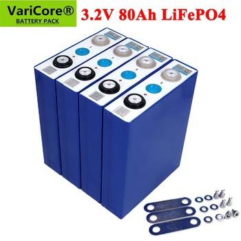 4-32 sztuk 3 2V 80Ah bateria LiFePO4 litowo fosfa duża pojemność 12V 24V 48V 80000mAh motocykl elektryczny silnik samochodu baterie tanie i dobre opinie VariCore 3280 80000mh Tylko baterie Pakiet 1 4-32PCS 185*130*36mm
