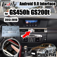 Lsailt 4 + 64G Android 9,0 video multimedia interfaz Lexus GS200 GS350 GS450h 2013-20 con Carplay de Youtube por Lsailt