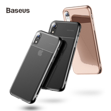 Baseus Transparent Case For iPhone XR Cover Shining Shockproof Coque Funda for Ultra Thin Back High Quality