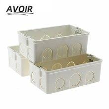 Avoir -boîte de montage à Cassette, 146x86mm, boîte de jonction à Cassette, montage mural, boîte de jonction interne, Installation cachée