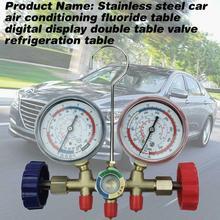 Air condition Pressure Gauge Stainless steel Meter Measure Tool Set Kit Car 0 25um stainless steel sigle groove fineness gauge fineness meter grindometer bgd241 1