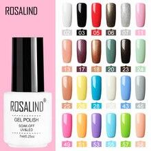 ROSALIND лак для ногтей Vernis Полупостоянный Гибридный лак Гель-лак УФ Цветной Гель-лак для маникюра верхнее покрытие блеск для ногтей