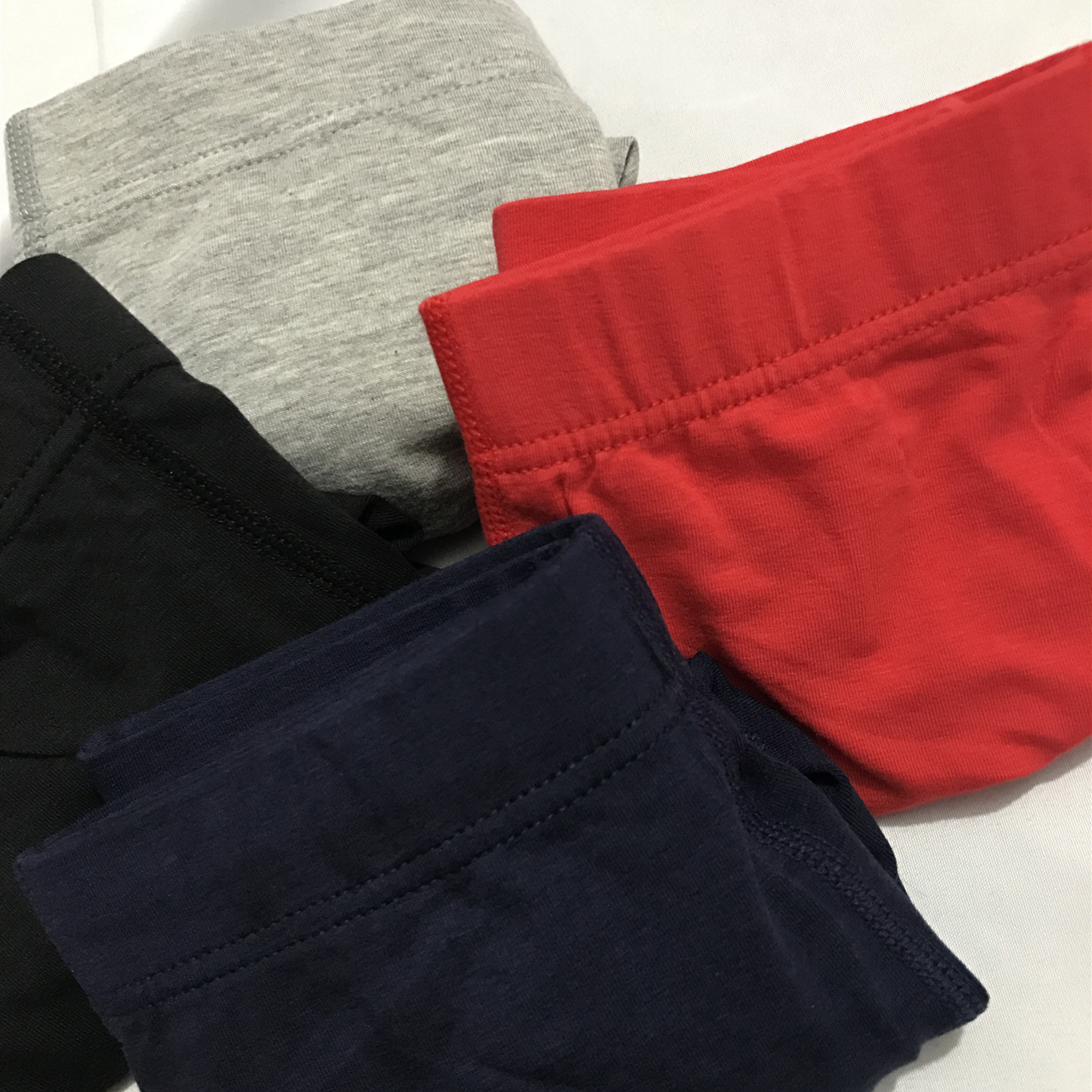 Men's Underwear Cotton High-End Mid-Waist Solid Color Comfortable Breathable Boxer Men's U Convex Design Solid Color Underwear