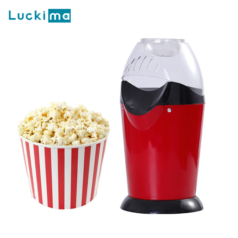 Household Popcorn Popper Maker Machine Automatic Hot Air Popcorn Microwave With Measuring Cup To Portion Popping Corn Kernels