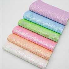20x22cm Solid Color Glitter Fabric Material DIY Handicraft Hair Bow Accessories Faux Leather Upholstery Fabric Shining Glitter 6pcs 20x22cm shinny glitter fabric diy sewing patchwork faux leather upholstery fabric hnadicarft diy bow accessories material