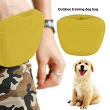 Silicone Dogs Training Bag Pocket Pet Food Snack Treat Pouch Outdoor Pocket Food Snack Pouch Blue/Green/Yellow(China)
