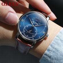 Мужские часы olevs роскошные ведущей марки подарки мужские Модные