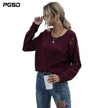 Pgsd модная осенне зимняя женская одежда Мягкий Вязаный Пуловер