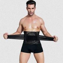 Homens cinto de emagrecimento cintura trainer abdômen queima de gordura modelagem barriga cinto corpo shaper espartilho reduzindo shapwear
