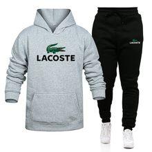 Sudadera com a capucha de cocodrilo para homem, conjunto de marcas de roda deportiva, sudadera de 2 piezas + pantalones de chándal
