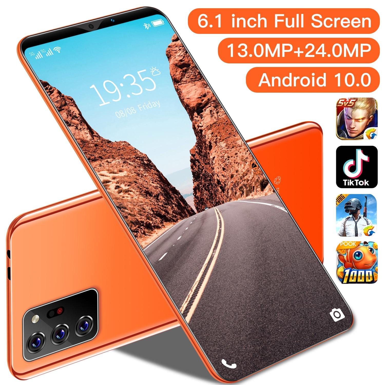 Note30 Plus 6.1 Inch Mobilephone Global Version 10 Core 4800mAh 6+128GB 13+24MP Dual SIM Face Unlock 4G LTE 5G 2021 Smart Phone