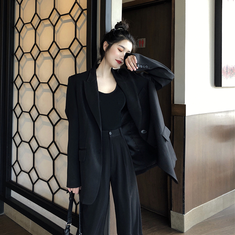 2020 Korean Women Suit Casual Pant Suits For Women Tailleur Femme Oversized Blazer Set Conbinaison Femme Ropa Formal Mujer