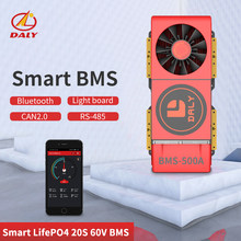 Haute smart 18650 LPF BMS 4S 12V 500A Bluetooth 485 à périphérique USB NTC + UART Lion LiFePO4 LTO Batteries2.3V/2.4V conn(China)