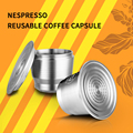 Nespresso 재사용 가능한 커피 컵 스푼 리필 브래킷 용 iCafilas 스테인레스 스틸 커피 캡슐 필터-에서커피 필터부터 홈 & 가든 의