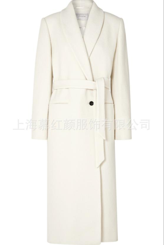 Women Coats Winter Wool Long Coat slim Vintage Fashion white Ladies Coats Plus Size 2XL