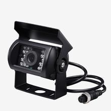 Caminhão câmera de backup à prova d18 água 18 led visão traseira do carro invertendo estacionamento câmera de backup ir night vision para ônibus caminhão van 12v 24v