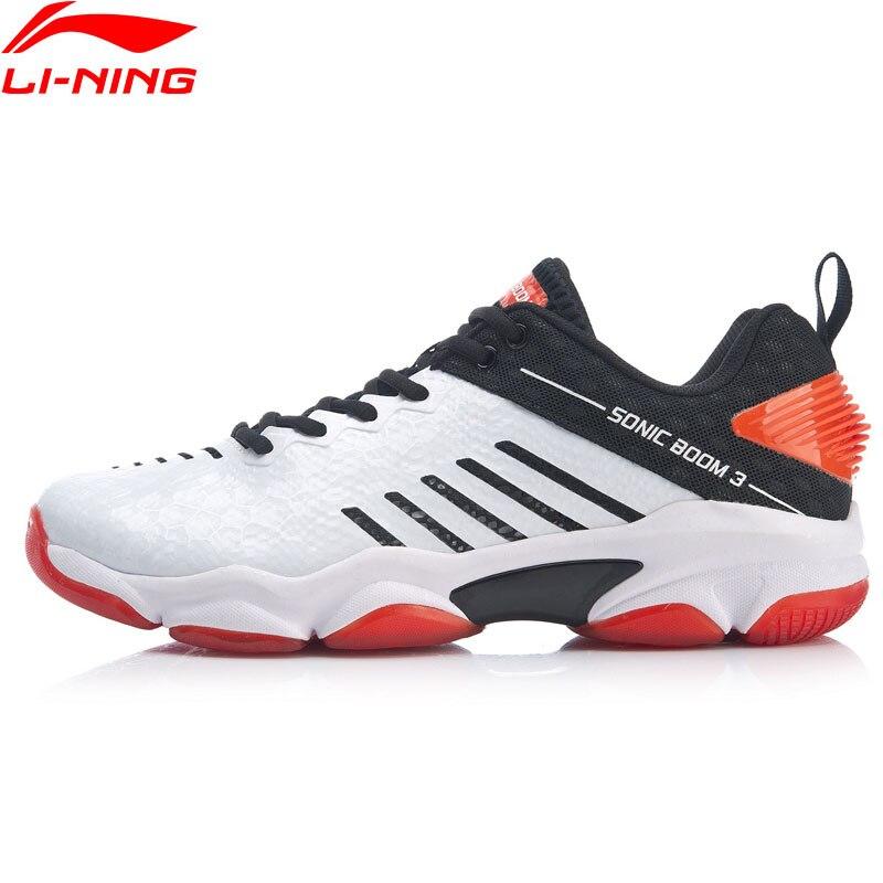 Li-Ning Men SONIC BOOM 3.0 Badminton Professional Shoes Bounse Cushion Carbon Plate LiNing Li Ning Sport Shoes AYZP009 XYY150