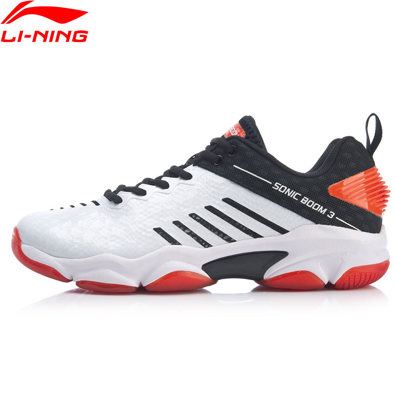 Li-ning hommes SONIC BOOM 3.0 Badminton professionnel chaussures Bounse coussin carbone plaque doublure Sport chaussures baskets AYZP009 XYY150