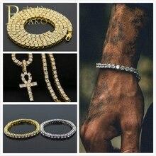 BOAKO Bling Men Tennis Bracelet Hip Hop Zircon Chain Bracelets Bangles Iced Cubic Zirconia Bangle Gold pulseira Z5