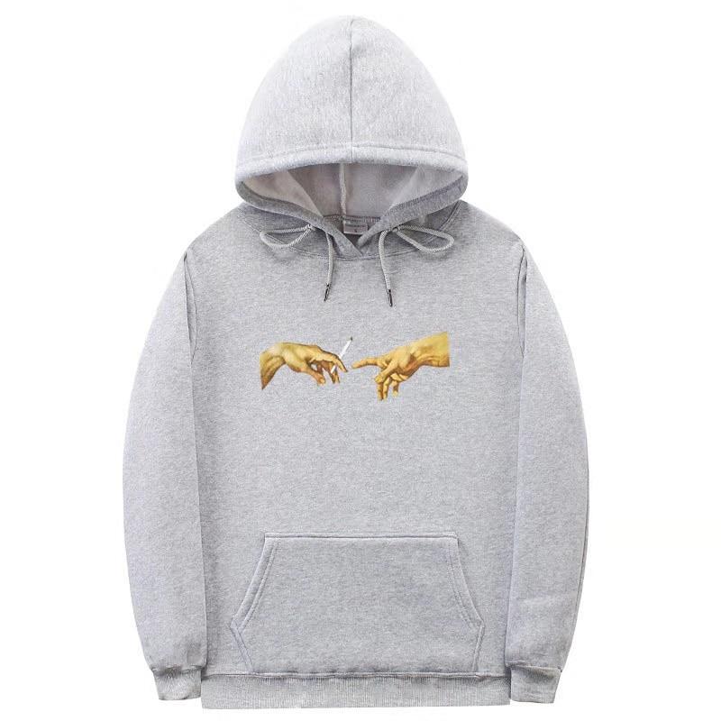 Michelangelo Mural Hoodie Cool Fashion Printed Hoodie Sweater