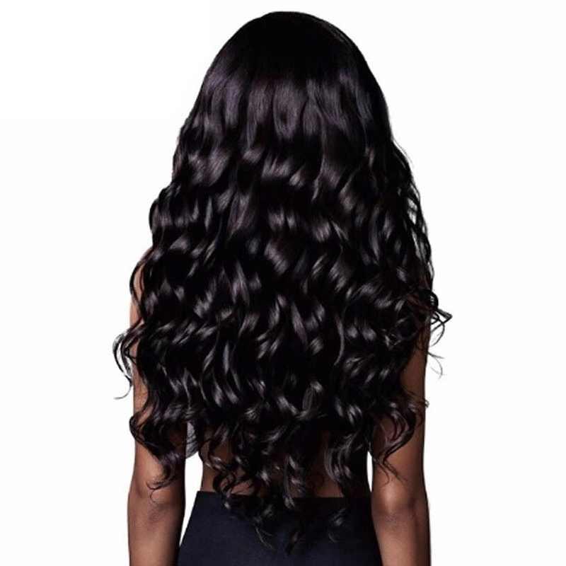 """26 """"peluca ondulada larga Peluca de pelo frontal de onda profunda para mujeres peluca frontal peluca Natural desplumada peluca negra rubia marrón peluca suave"""