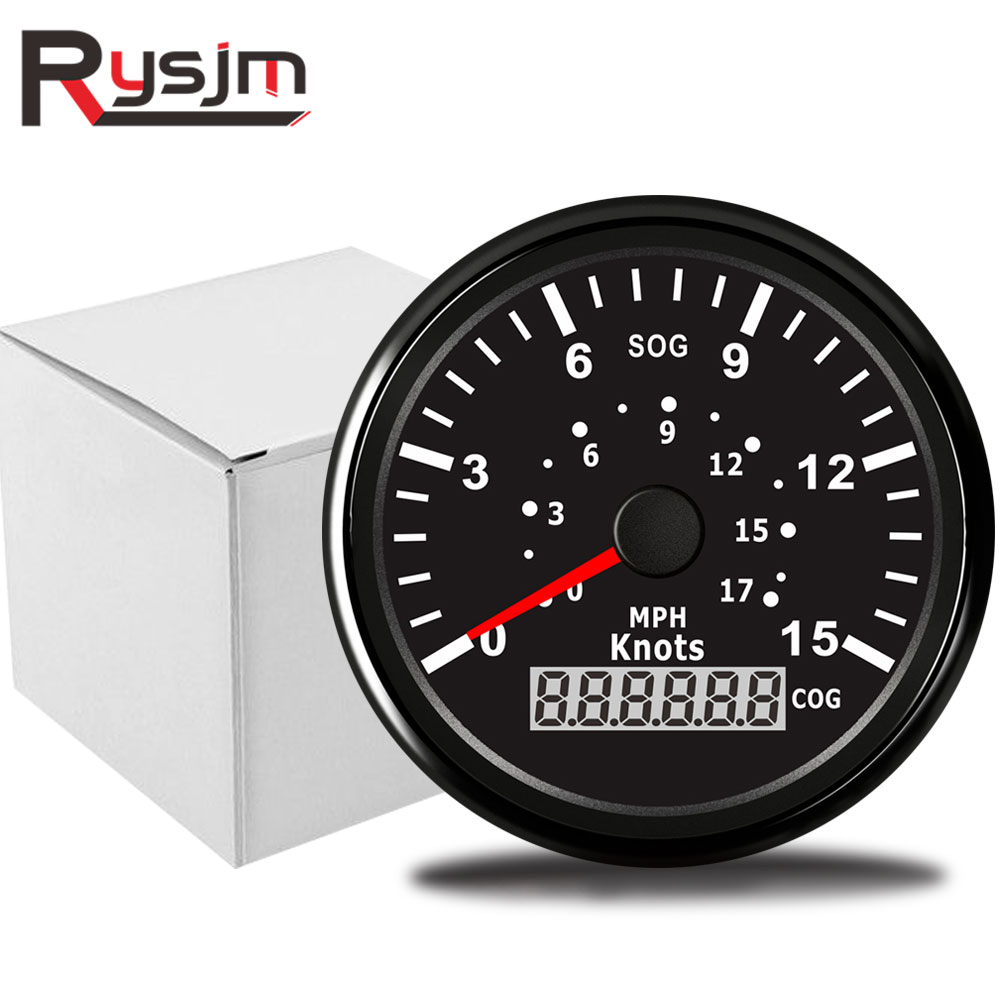 85mm LCD Car GPS Speedometer Gauge Red Backlight W//GPS Speed Sensor anti-fogging