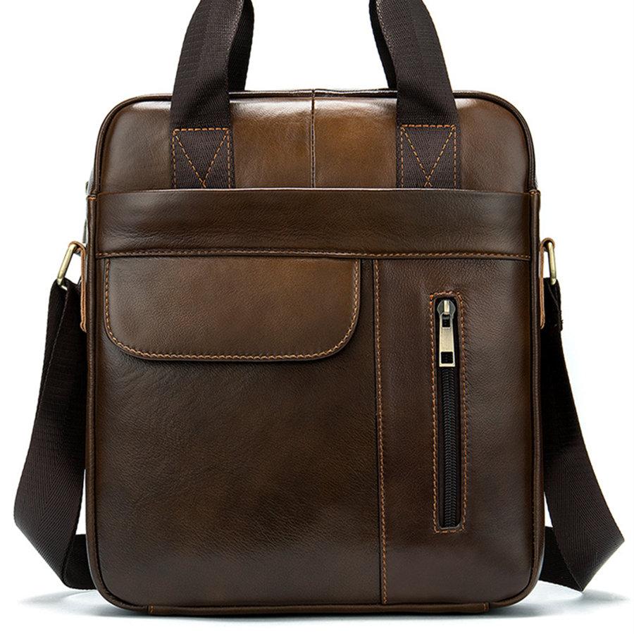 2020 Hop Men's Briefcase Bag Men's Genuine Leather Laptop Bag Business Tote For Document Office Portable Laptop Shoulder Bag