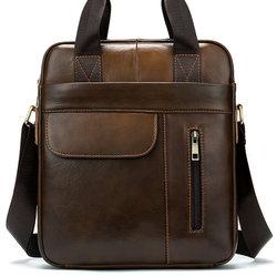 2020 Hop hommes porte-documents sac hommes en cuir véritable pochette d'ordinateur fourre-tout pour Document bureau ordinateur Portable sac à bandoulière