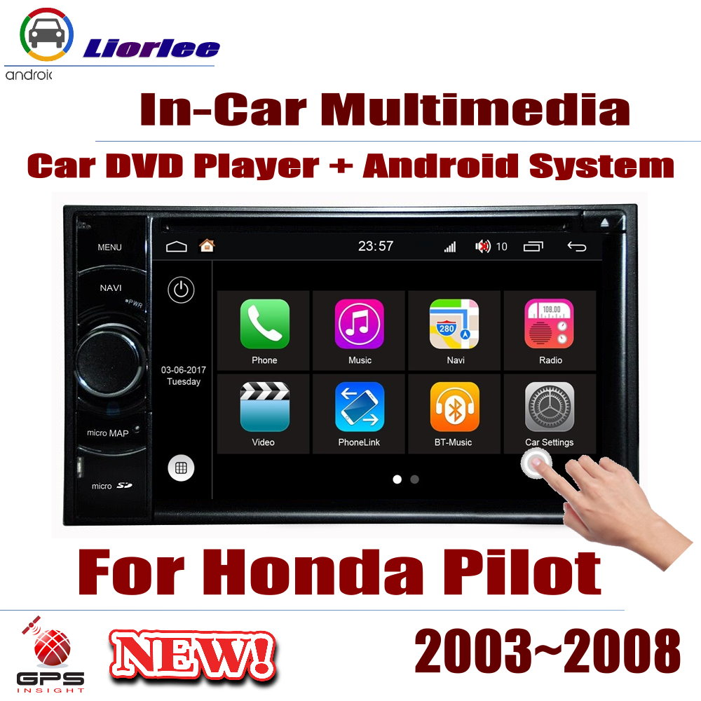 <font><b>For</b></font> <font><b>Honda</b></font> <font><b>Pilot</b></font> 2003~2008 Car Android Player DVD <font><b>GPS</b></font> Navigation System HD Screen Radio Stereo Integrated Multimedia image