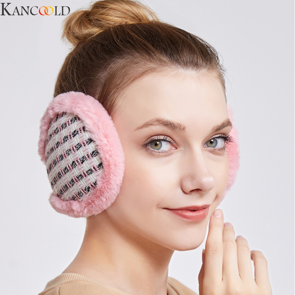 KANCOOLD Warm Earmuffs For Girls Winter Fur Ear Muffs For Women Winter Accessories Ear Cover Warmers Women Christmas Headband