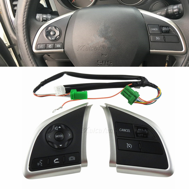 For Mitsubishi Outlander 2013 2014 2015 Mirage 2014 2015 Audio Radio Control Cruise Control Switch Steering Wheel Switch Button