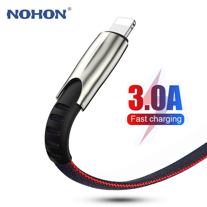 <font><b>1</b></font> <font><b>2</b></font> 3 m Charger USB Data <font><b>Cable</b></font> For iphone X XR 10 XS Max 7 8 6 S 6S Plus Fast Charging Wire Cord Origin Mobile Phone Long Short image