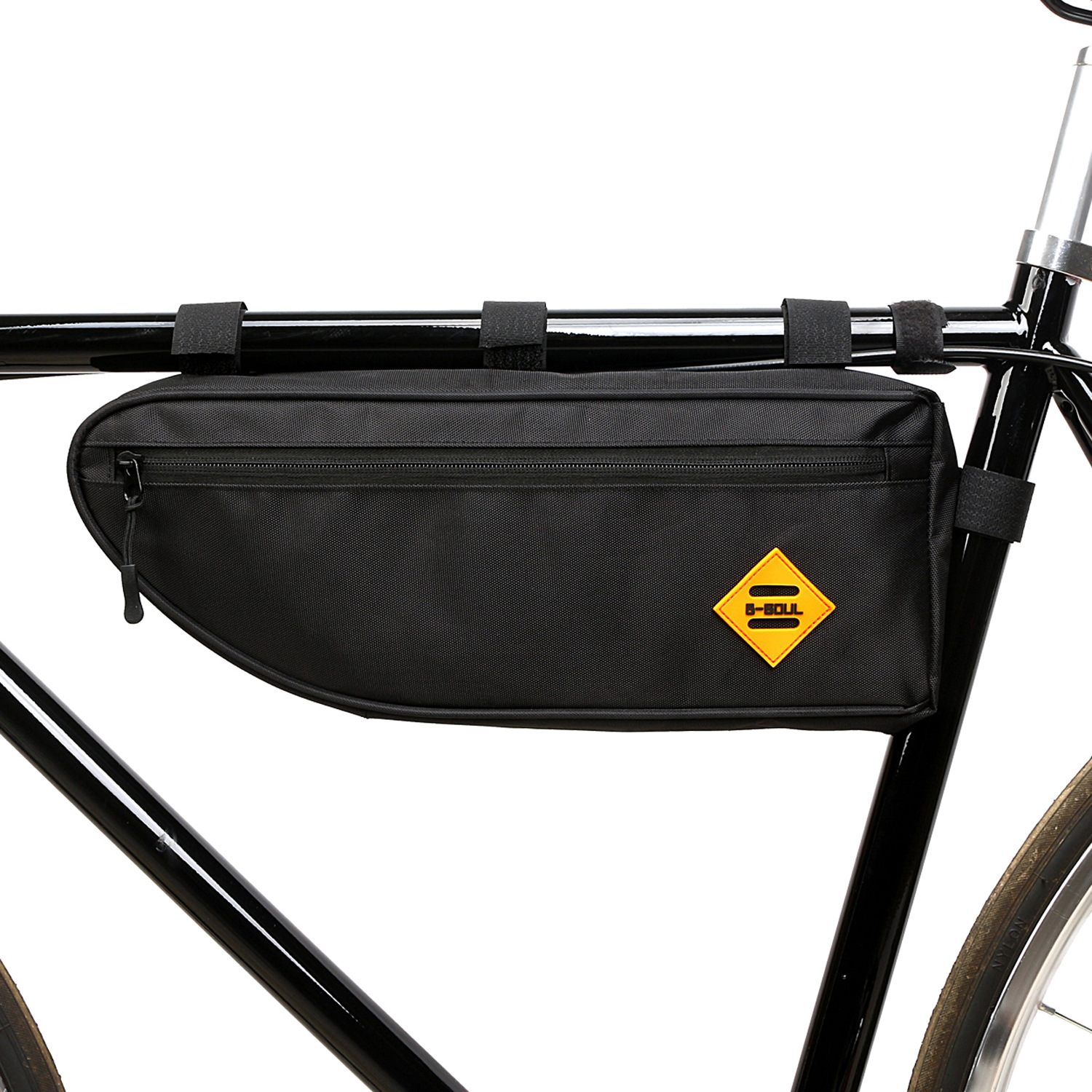 B SOUL Bicycle Triangle Bag Bike Frame Front Tube Bag Waterproof Pouch