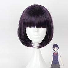 Hairjoy женский синтетический пурпурный парик для косплея короткая